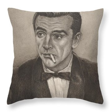 Bond From Dr. No Throw Pillow