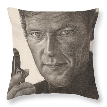 Bond Portrait Throw Pillow