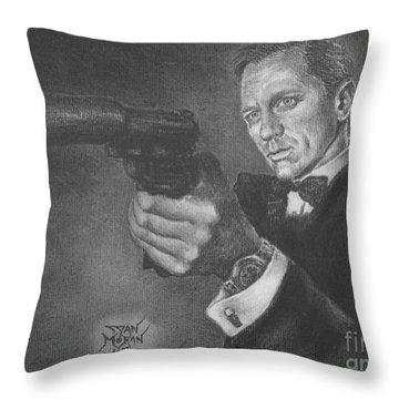 Bond Portrait Number 3 Throw Pillow