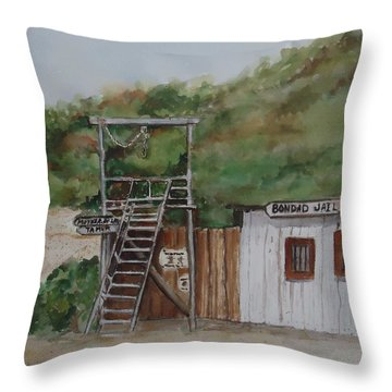 Bondad Colorado Jail Throw Pillow by Charme Curtin