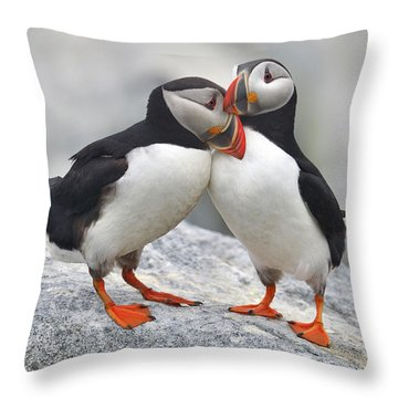 Bonded And Banded Throw Pillow by Tony Beck