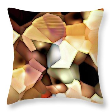 Throw Pillow featuring the digital art Bonded Shapes by Ron Bissett