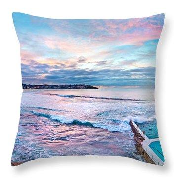Bondi Beach Icebergs Throw Pillow by Az Jackson
