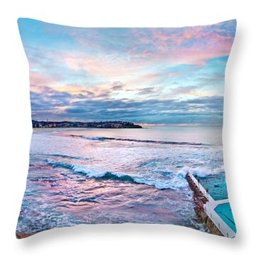 Bondi Beach Icebergs Throw Pillow