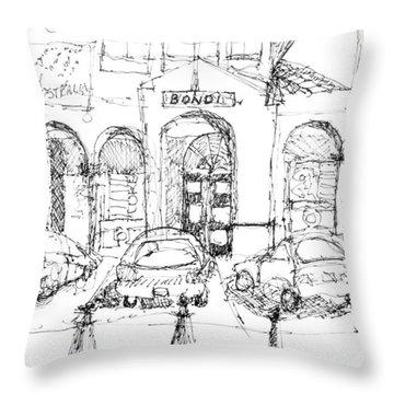 Bondi Beach Pavillion Throw Pillow