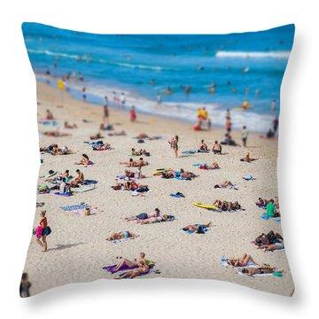 Bondi People Throw Pillow by Az Jackson