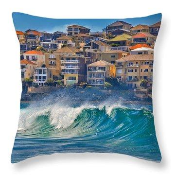 Bondi Waves Throw Pillow