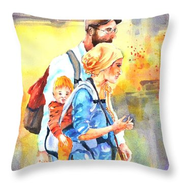 Bonding #5 Throw Pillow