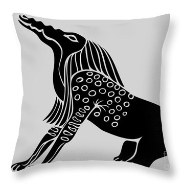 Bone Eater Throw Pillow by Michal Boubin