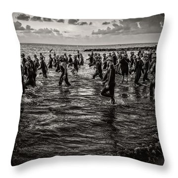 Bone Island Triathletes Throw Pillow
