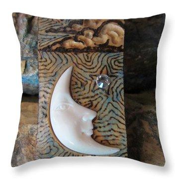 Bone Moon In Gourd Wood #r116 Throw Pillow