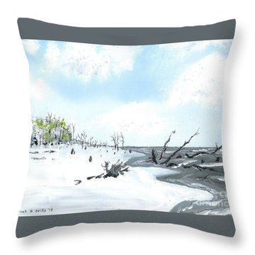 Bone Yard At Capers Island Throw Pillow