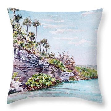 Bonefish Creek Watercolour Study Throw Pillow