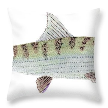 Bonefish Throw Pillow