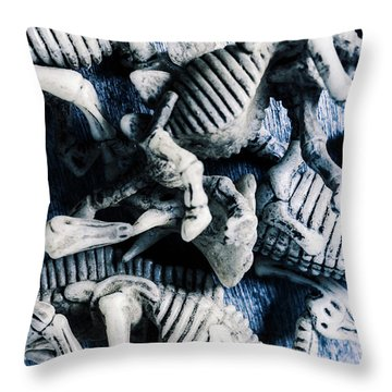 Bones From A Mass Extinction Event Throw Pillow
