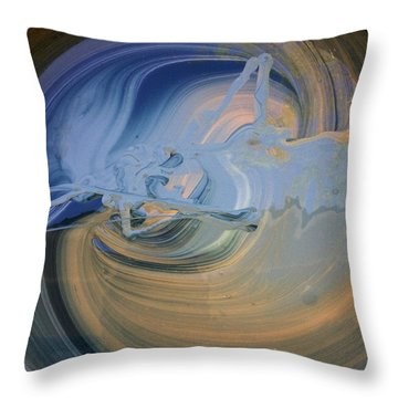 Boney Grandma Flight Throw Pillow