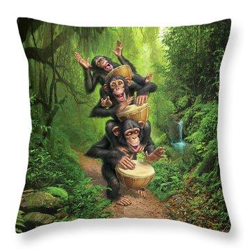 Bongo In The Jungle Throw Pillow