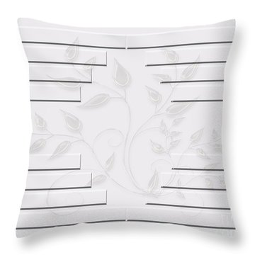 Bonjour Leaves Mass Throw Pillow