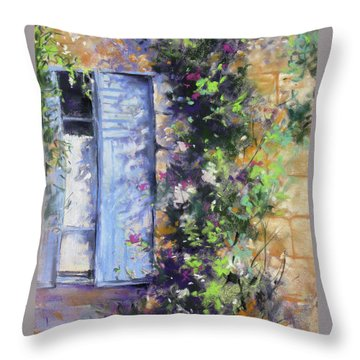 Bonjour Throw Pillow by Rae Andrews