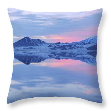 Throw Pillow featuring the photograph Bonneville Lake by Chad Dutson