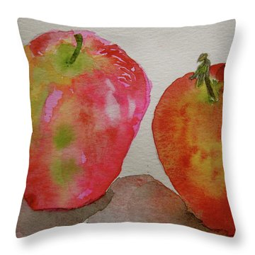 Throw Pillow featuring the painting Bonnie And Clyde by Beverley Harper Tinsley