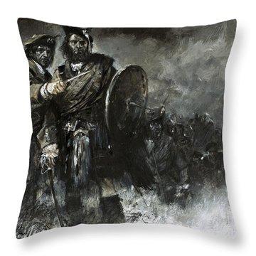 Bonnie Prince Charlie At Culloden Throw Pillow