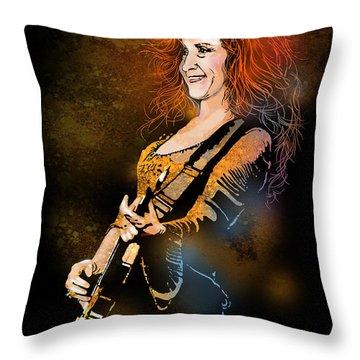 Bonnie Raitt Throw Pillow by Paul Sachtleben