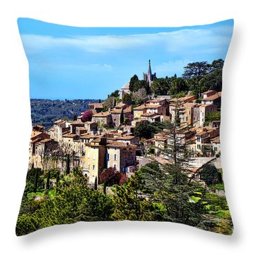 Bonnieux Throw Pillow by Olivier Le Queinec