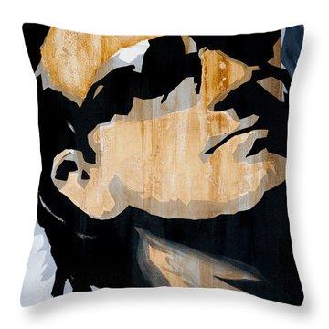 Bono Throw Pillow by Brad Jensen