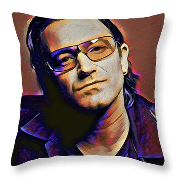 Bono Throw Pillow by Gary Grayson