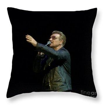 Bono - U2 Throw Pillow