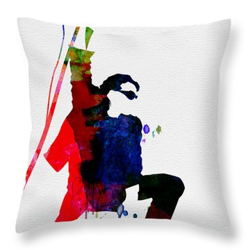 Bono Watercolor Throw Pillow by Naxart Studio