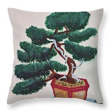 Bonsai #3 Throw Pillow