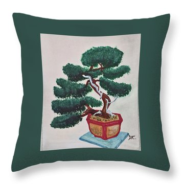 Bonsai #3 Throw Pillow