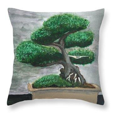 Bonsai #2 Throw Pillow