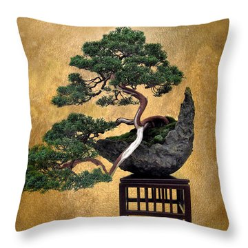 Bonsai 3 Throw Pillow by Jessica Jenney