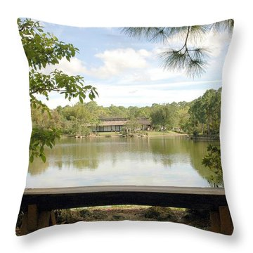Bonsai Lake Throw Pillow