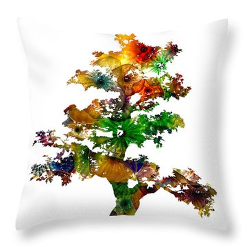 Throw Pillow featuring the photograph Bonsai by Michael Colgate