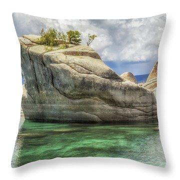 Bonsai Rock And Rain Shower Throw Pillow