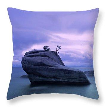 Bonsai Rock Blues By Brad Scott Throw Pillow
