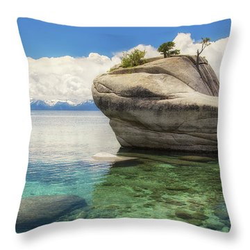 Bonsai Rock Throw Pillow
