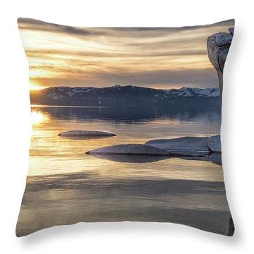 Bonsai Sunset Throw Pillow