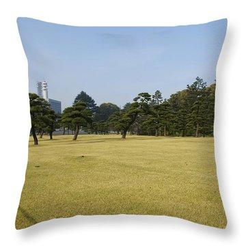 Bonsai Trees And Tokyo Throw Pillow