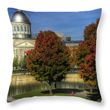 Bonsecours Market Throw Pillow