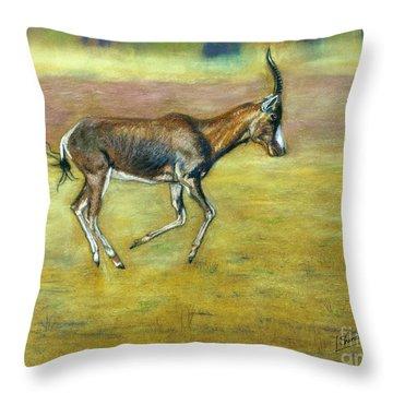 Bontebok Throw Pillow