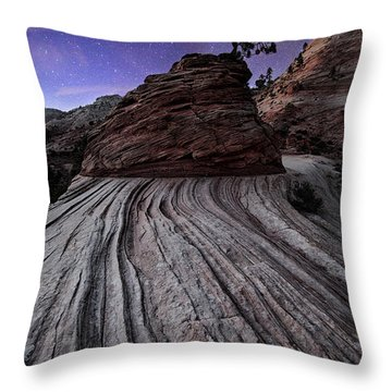 Bonzai In The Night Utah Adventure Landscape Photography By Kaylyn Franks Throw Pillow