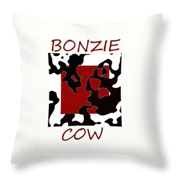 Bonzie Cow Throw Pillow