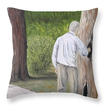 Throw Pillow featuring the painting Boo by Kevin Daly