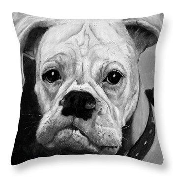 Boo The Boxer Throw Pillow
