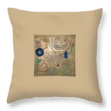 Throw Pillow featuring the painting Boogie 3 by Bernard Goodman